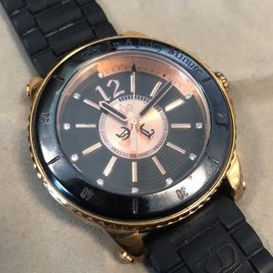 Black & Rose Gold Juicy Couture Watch